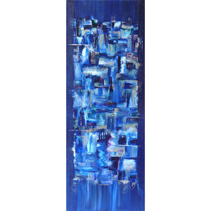 'Waterfalls' abstract art on canvas