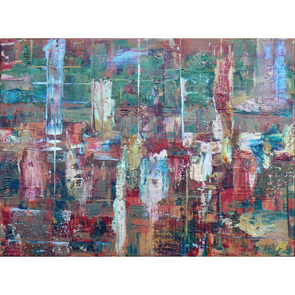 'Wax Lyrical' abstract art on canvas