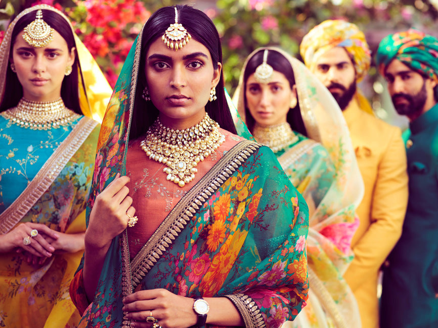 Sabyasachi launches his latest collection of bright pop colors and floral lehengas for Summer Brides!!