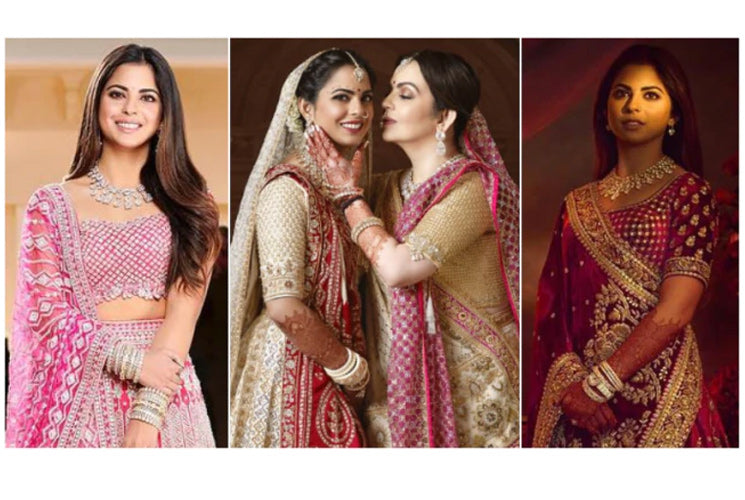 All of Isha Ambani's wedding looks: Major Bridal Goals!!
