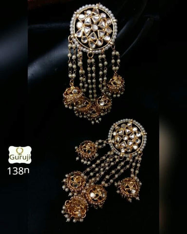 Clemonte Viraasat - Kundan Tassel earrings