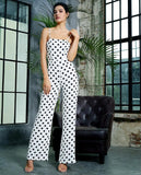 Clemonte Polka play spaghetti strap Jumpsuit