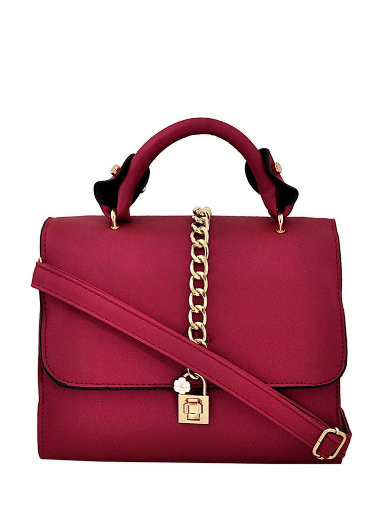 Clemonte Kaitlyn Leather Sling Bag - Red