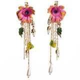 Clemonte Flower stud tassel earring for women