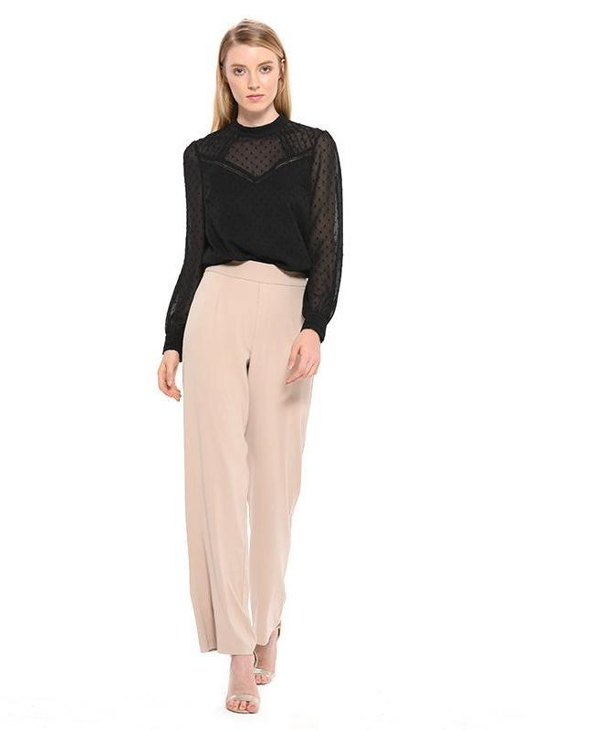 Clemonte High waist wide leg trousers - pink