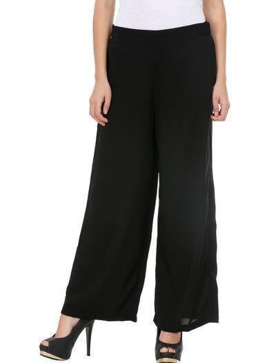 Clemonte Women Black Solid  Palazzos