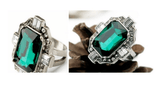 Clemonte Emerald green cocktail ring for women