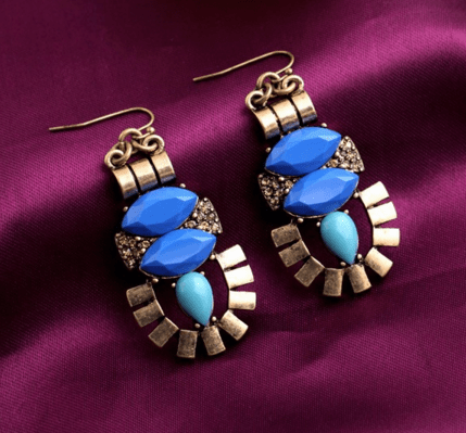 Clemonte vintage aztec drop earrings
