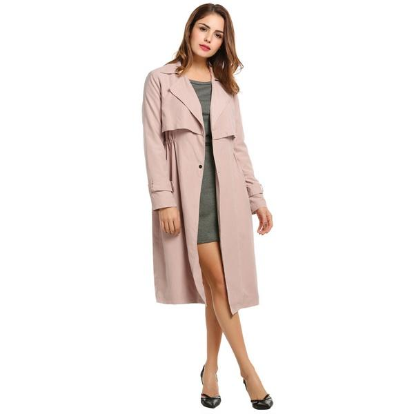 Clemonte Blush Pink trench jacket