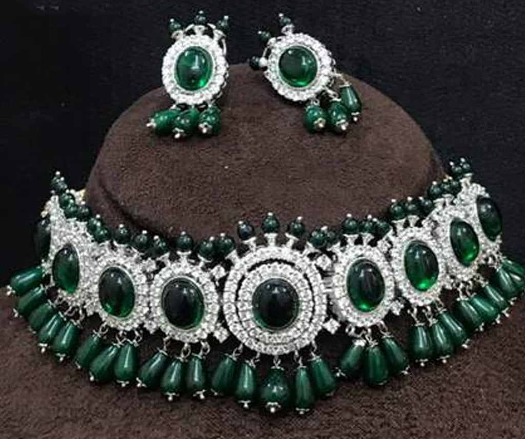 Clemonte India Jewels - Deepika Emerald Jewellery set