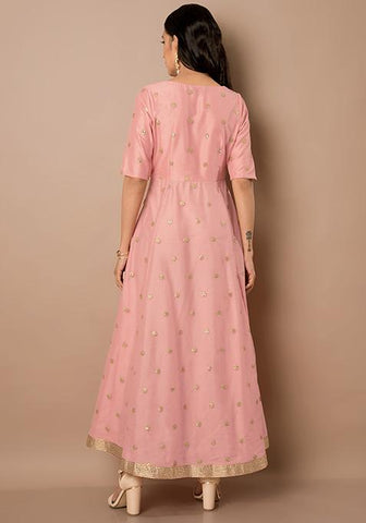 624b20e73dc684 Add to Wishlist. Clemonte utsav collection  Pink Sequin Embellished Silk  Tunic. Rs 2