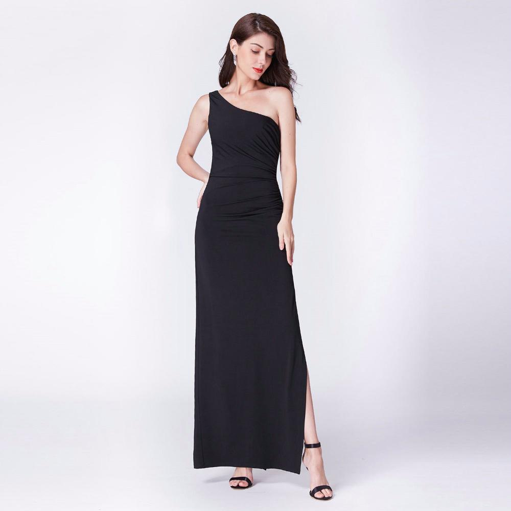 Clemonte Bethany Black one shoulder gown