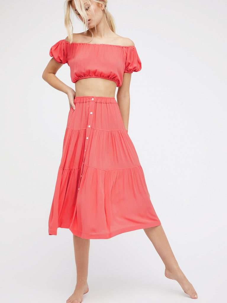 Clemonte blush pink skirt two piece set
