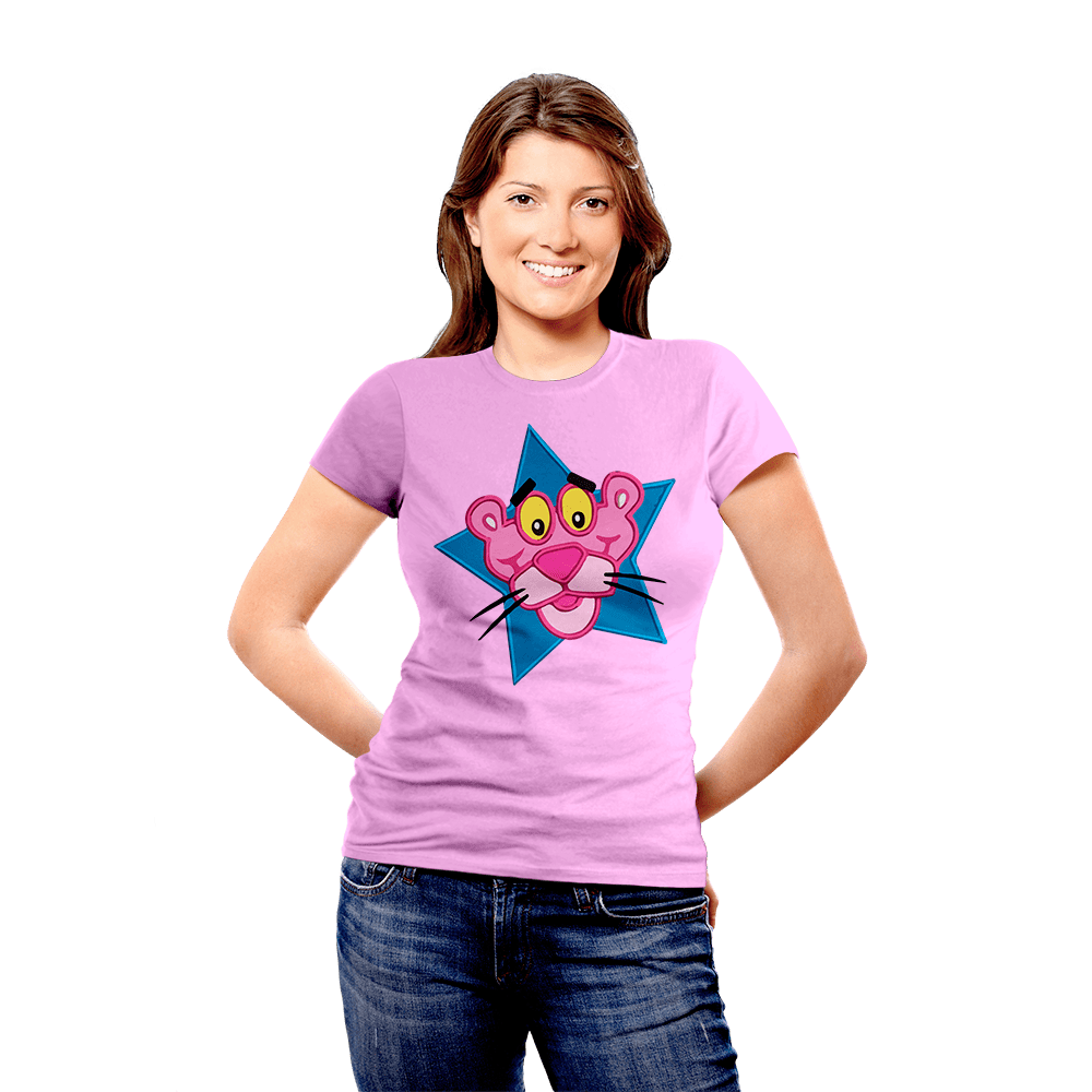 BeCivil Pink Panther Tshirt collection -panther star face