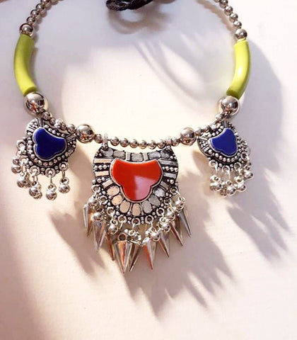 Multicolor stone necklace