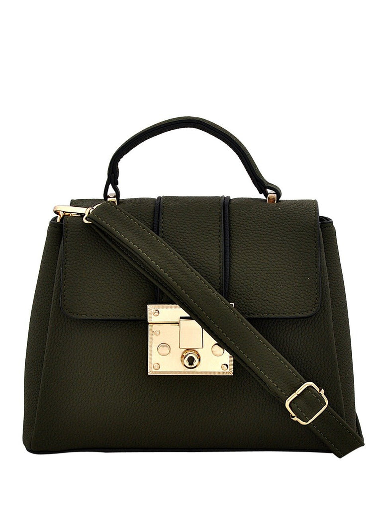 Clemonte Hamilton Satchel crossbody bag in Olive green
