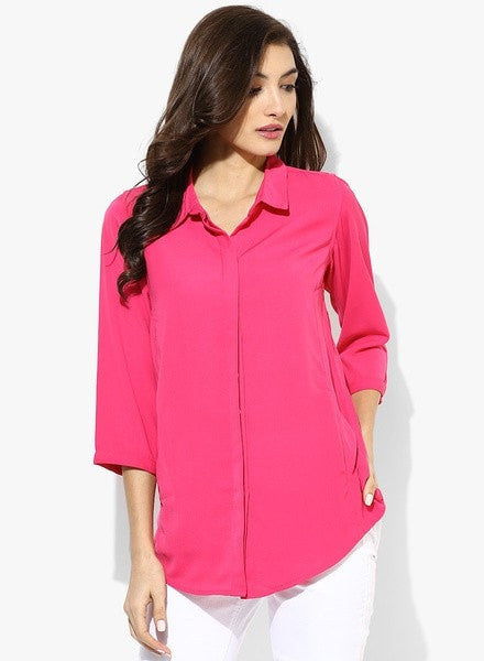 Clemonte Pink solid blouse
