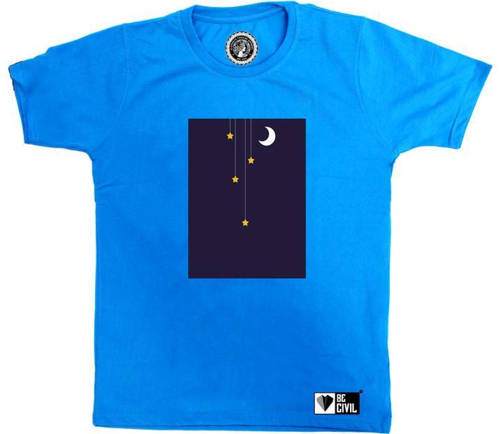 BeCivil Moon and Stars Minimal Design TShirt