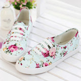 Clemonte Blue Floral canvas sneakers