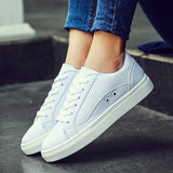 Clemonte White basic trainers shoes for women