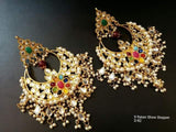 Clemonte viraasat Nau ratan showstopper chandbali earrings