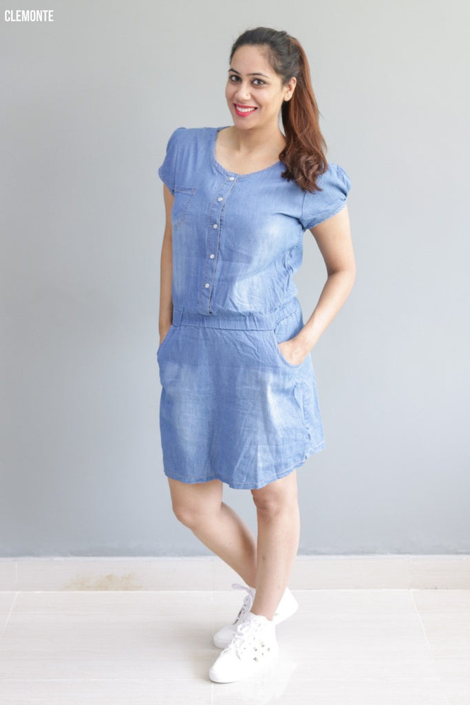 Clemonte Denim faded blue Shirt Dress