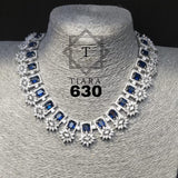 Clemonte India Jewels - Tiara Deep Blue Diamond set
