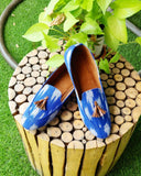 CLEMONTE x SAAHI : Blue ikat Loafers : The Blue Blush