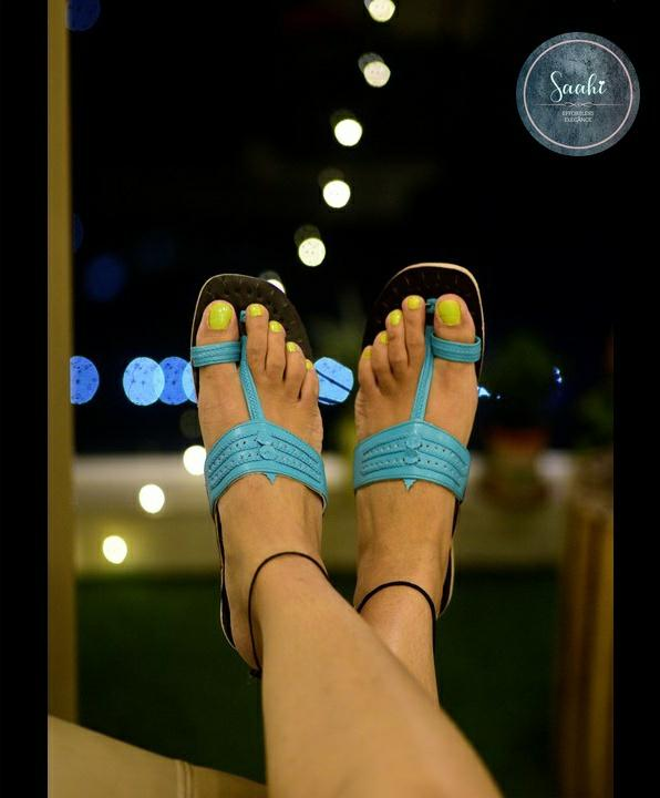 CLEMONTE x SAAHI : Kolhapuri chappals : The Mermaid Ice