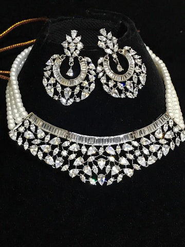 Clemonte India Jewels - Maharani Real pearls Diamond set
