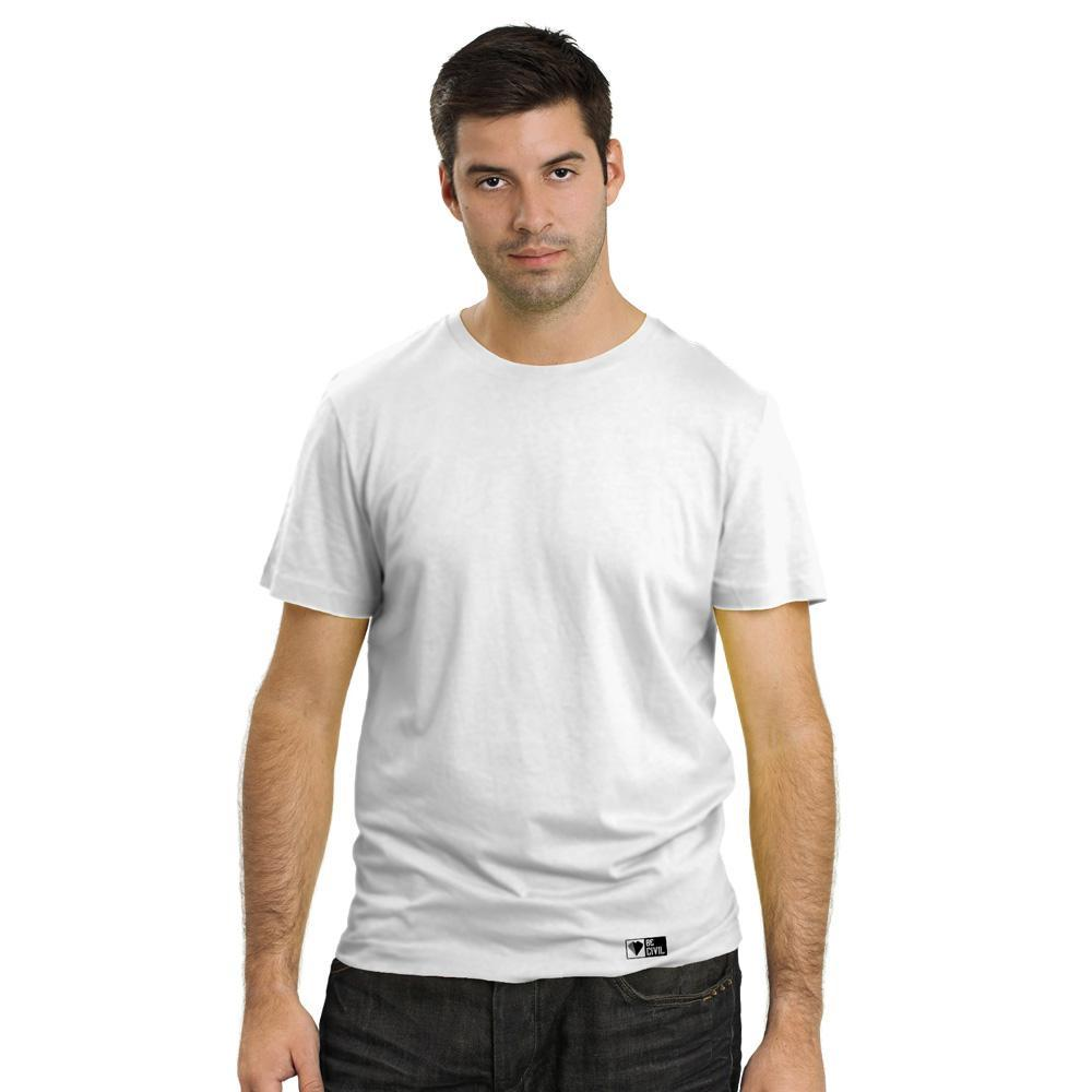 BeCivil Custom - Print Type Screen - Mens White Cotton TShirt