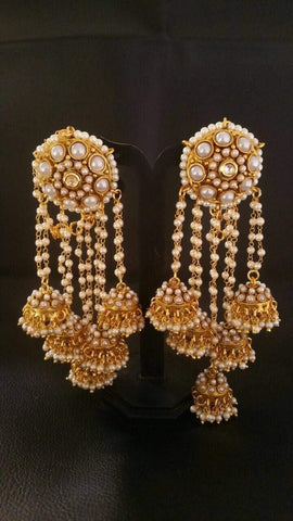 Clemonte Viraasat Jewels - Pearl Tassel earrings