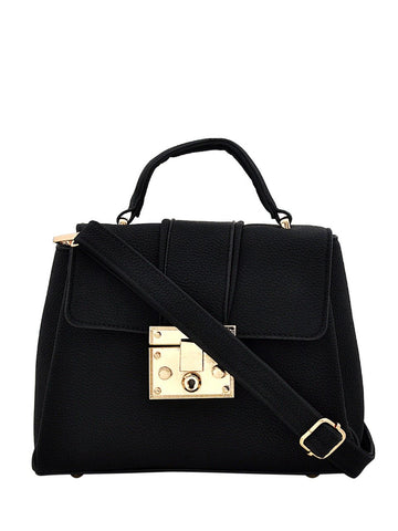 Clemonte Hamilton Satchel crossbody bag in black