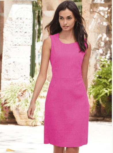 Clemonte Fuschia pink solid dress