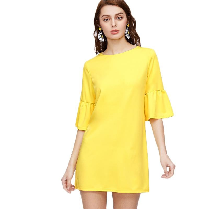 Clemonte daffodil drop waist dress in crepe - The Candy Edit