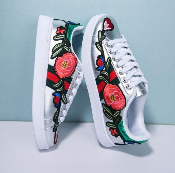 Clemonte Floral embroidered sneakers