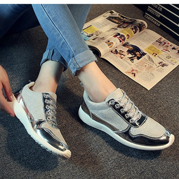 Clemonte Women Metallic silver Sneakers