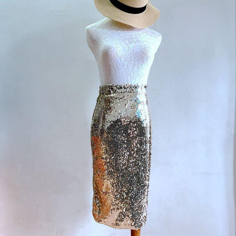 bb722c2a1 Clemonte sequin pencil skirt - Gold. Rs 2,200.00. Add to Wishlist