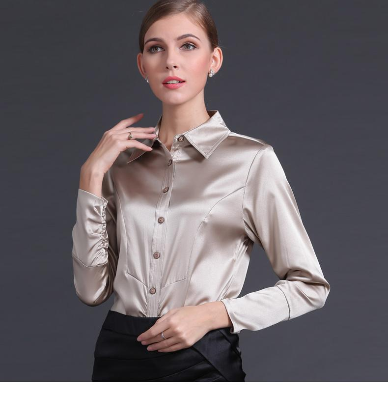 Clemonte Cream Button down satin shirt