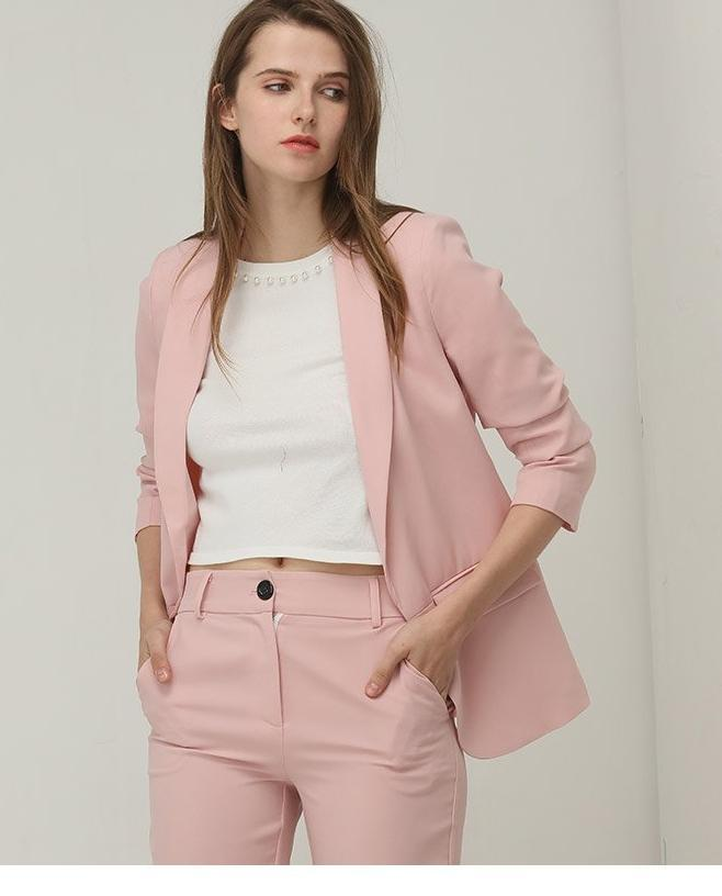 Clemonte Alyssa Pink Co-ords set  - Blazer with pants