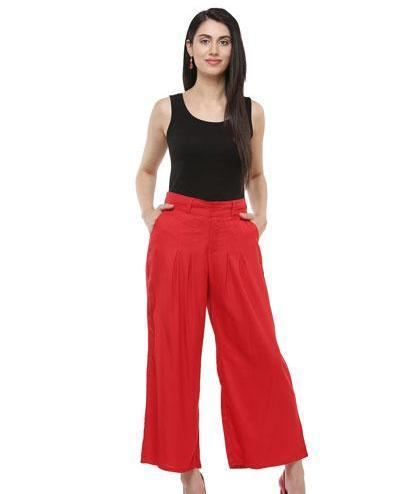 Clemonte Red Ankle length pants