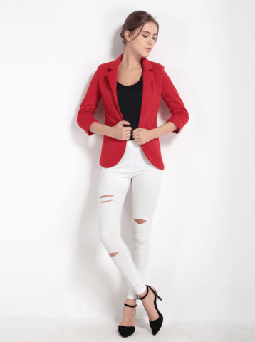 Clemonte  Georgia blazer - Red