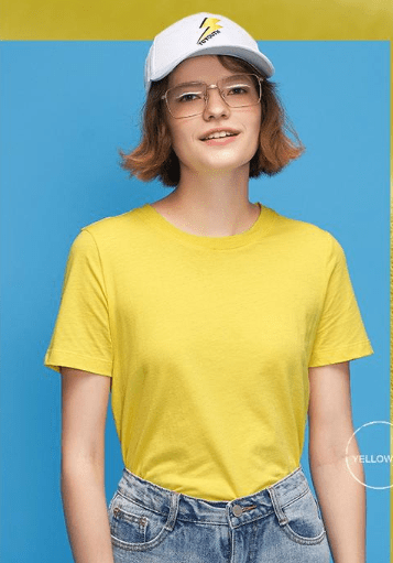 BeCivil Summer Casual Solid basic tshirt for women - yellow