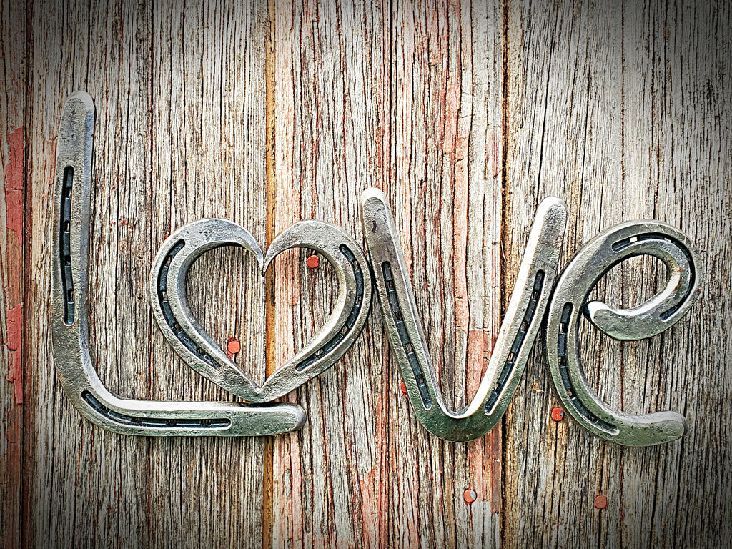 "Horseshoe ""Love"" Wall Art"