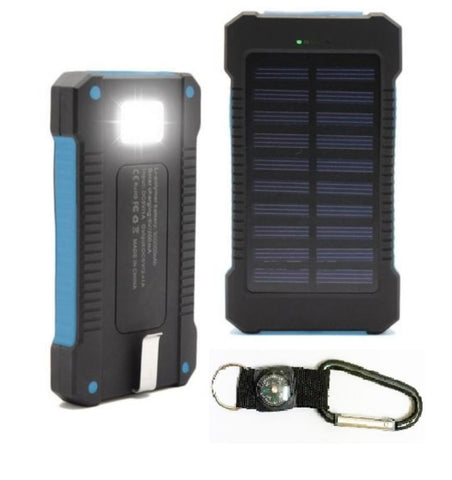 300000mAh Dual USB Solar Charger Waterproof Powerbank