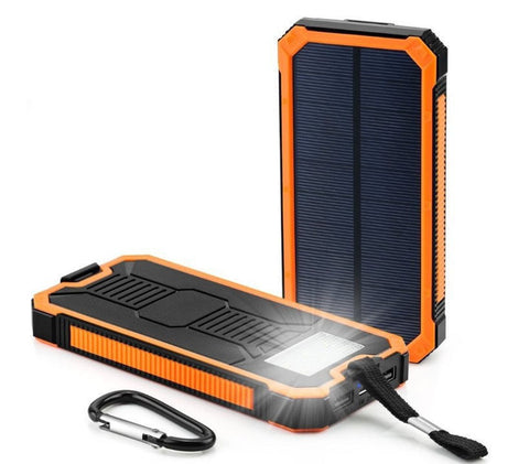 100000mAh Dual-USB Waterproof Portable Solar Charger