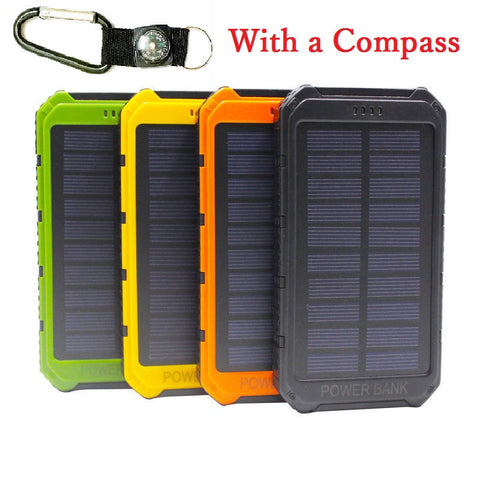 OutDoor 300000mAh Solar Power Bank Portable External Battery Portable Charger