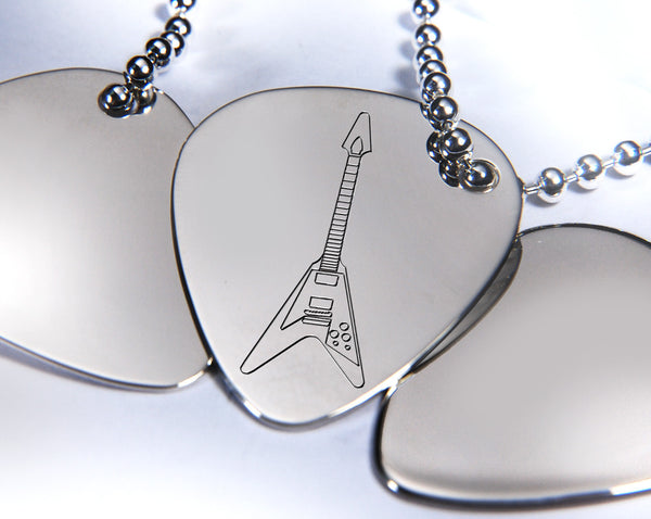 Silver Plectrum Keyrings | Silver Picks