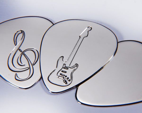 Silver Plectrum Designs | Silver Picks