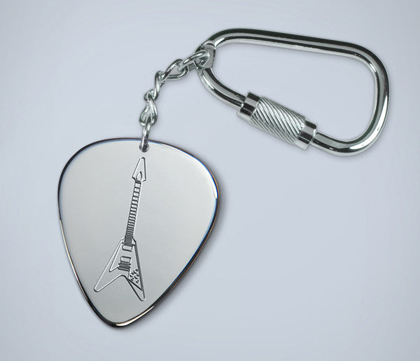 Flying V Key Ring - with chain